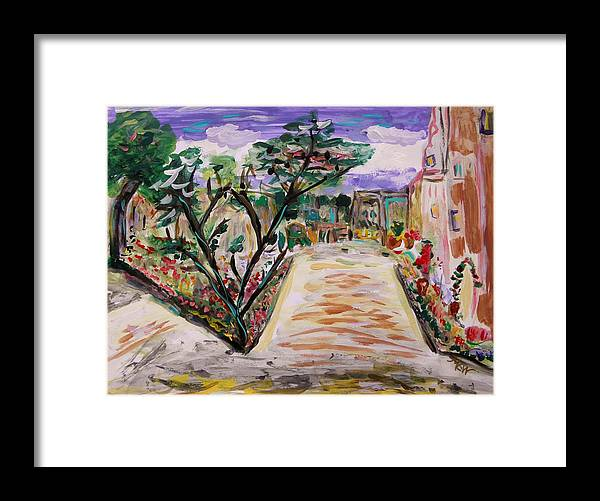 Garden Framed Print featuring the painting Garden Of The City by Mary Carol Williams