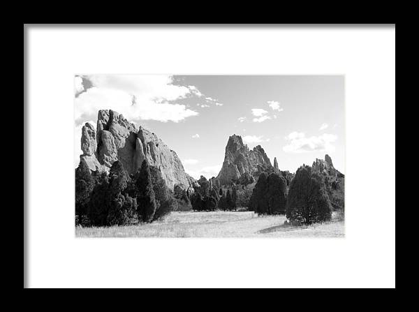 Garden Of The Gods Framed Print featuring the photograph Garden Of The Gods by Rhonda DePalma