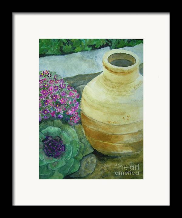 Landscape Framed Print featuring the painting Garden Path by Vivian Mosley
