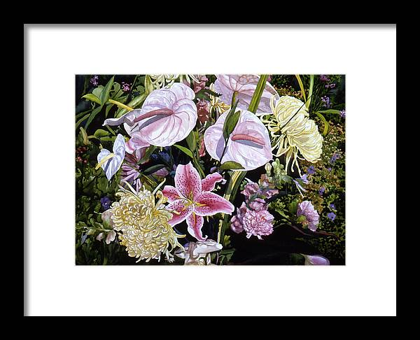 Watercolor Framed Print featuring the painting Garden Song by Teri Starkweather