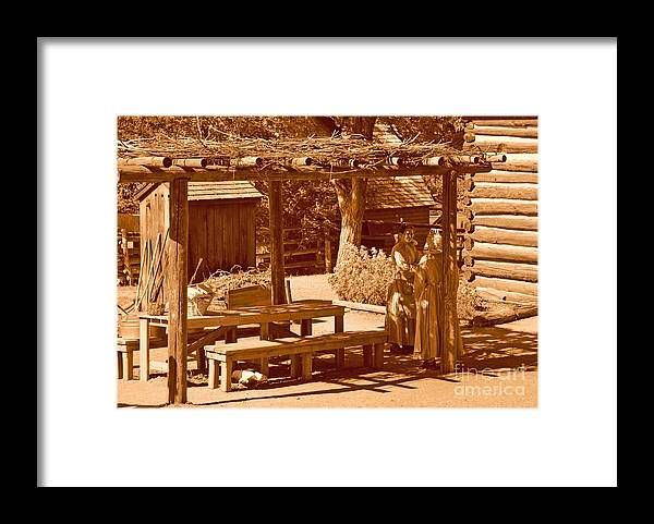 Sepia Framed Print featuring the photograph Gardiner Cabin - Circa 1800's by Dennis Hammer