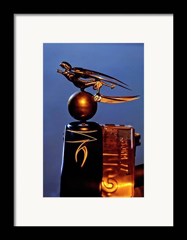 Gargoyle Framed Print featuring the photograph Gargoyle Hood Ornament 3 by Jill Reger