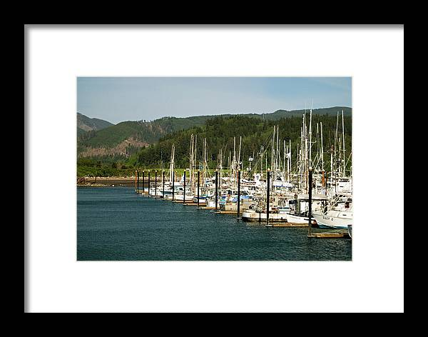 Oregon Framed Print featuring the photograph Garibaldi Oregon Marina by Renee Hong