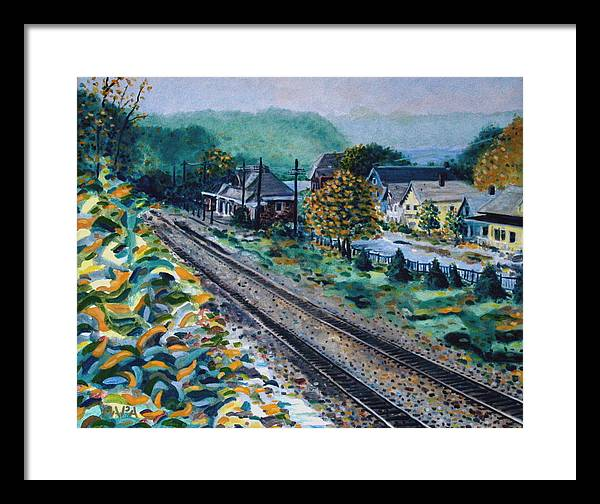 Garrison Framed Print featuring the painting Garrison Station by Ralph Papa