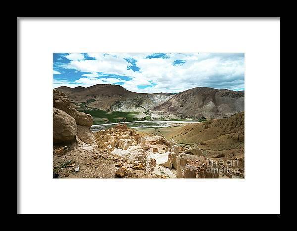 Tibet Framed Print featuring the photograph Garuda Valley Tibet Yantra.lv by Raimond Klavins