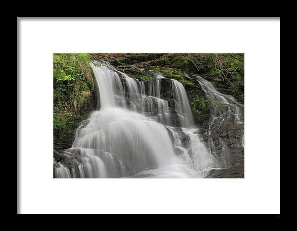 Waterfall Framed Print featuring the photograph Garwin Falls Upper Cascade by John Burk
