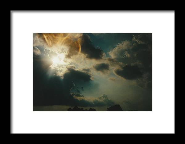 Landscape Framed Print featuring the photograph Gary Indiana Storm On The Rise by Gene Linder