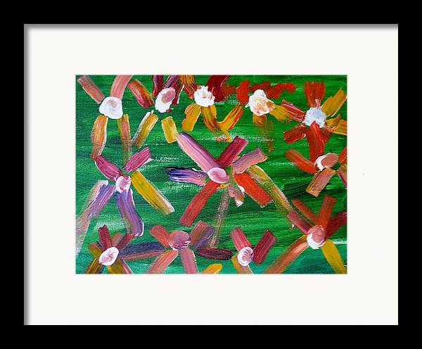 Flowers Framed Print featuring the painting Gary's Flowers by Gary Giagrande