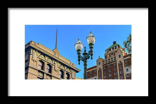 Street Lamps Framed Print featuring the photograph Gas Light by Ken Blystone
