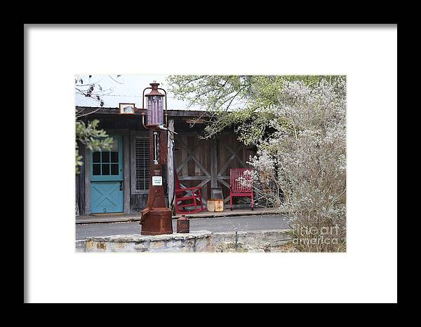 Landscape Framed Print featuring the photograph Gas Pump by Jeff Downs