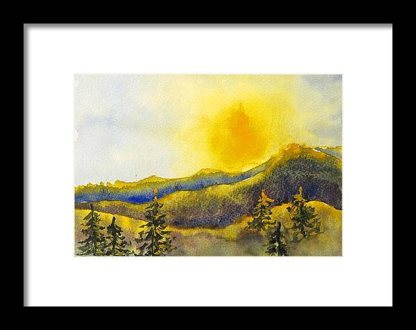 Sunset Framed Print featuring the painting Gassaway Sunset by Libby Cagle