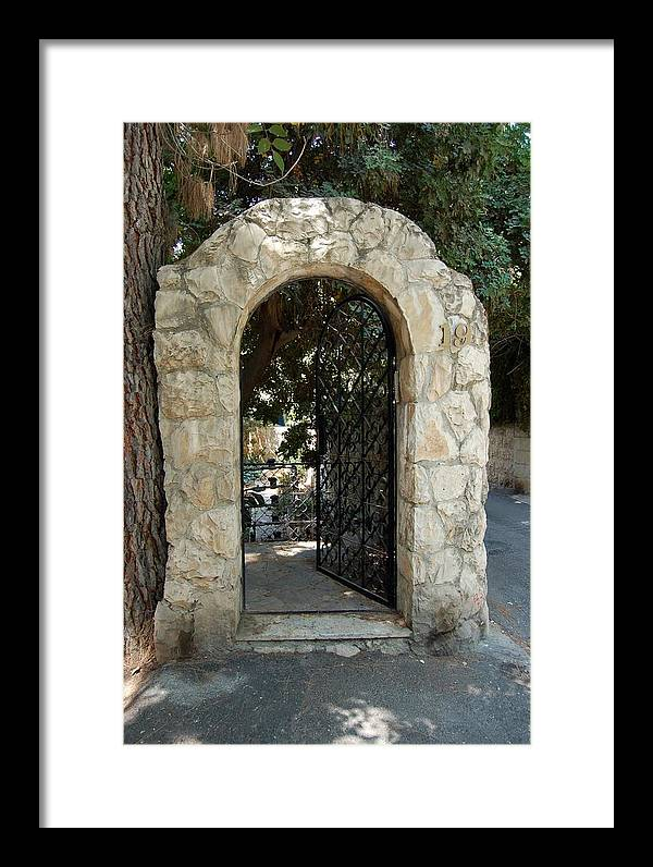 Gate Framed Print featuring the photograph Gate In Rehavia I by Susan Heller