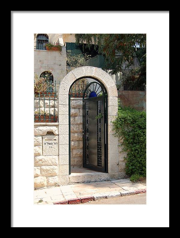 Israel Framed Print featuring the photograph Gate In Rehavia II by Susan Heller