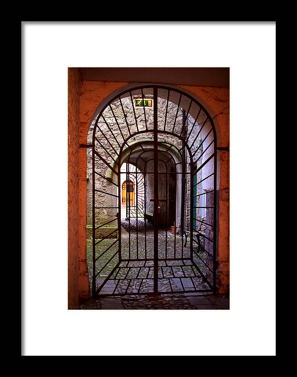 Gate Framed Print featuring the photograph Gated Passage by Tim Nyberg