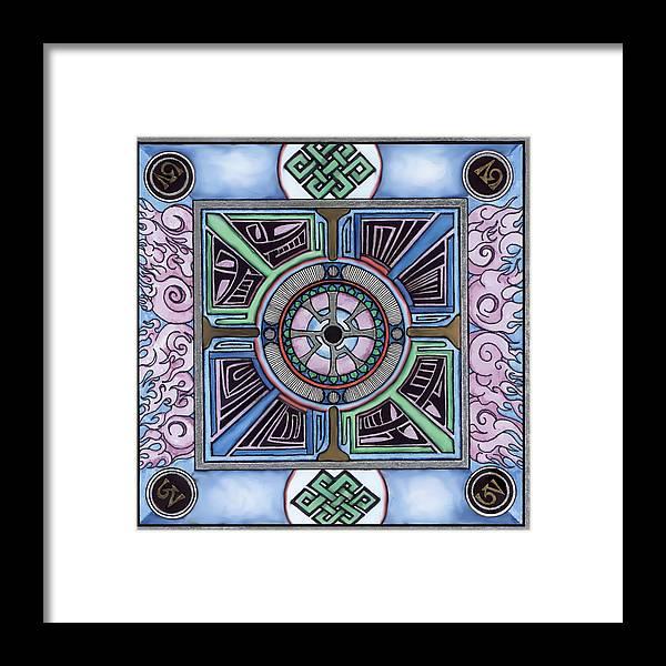 Mandala Framed Print featuring the drawing Gateway by J P Lambert