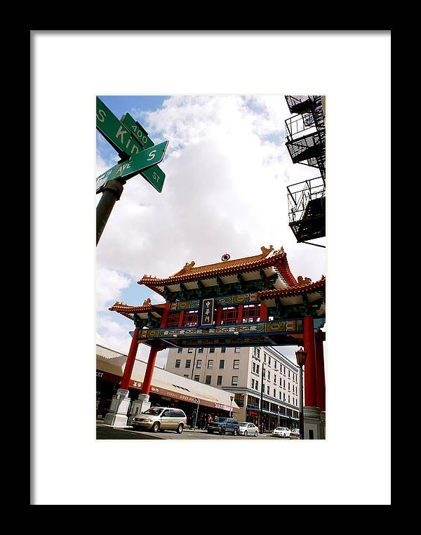 Architecture Framed Print featuring the photograph Gateway To Chinatown by Sonja Anderson