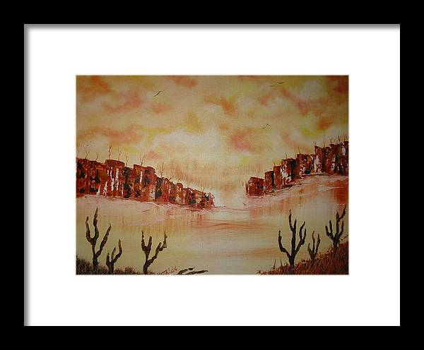 Acrylics Framed Print featuring the painting Gateway To Eternity by Laurie Kidd