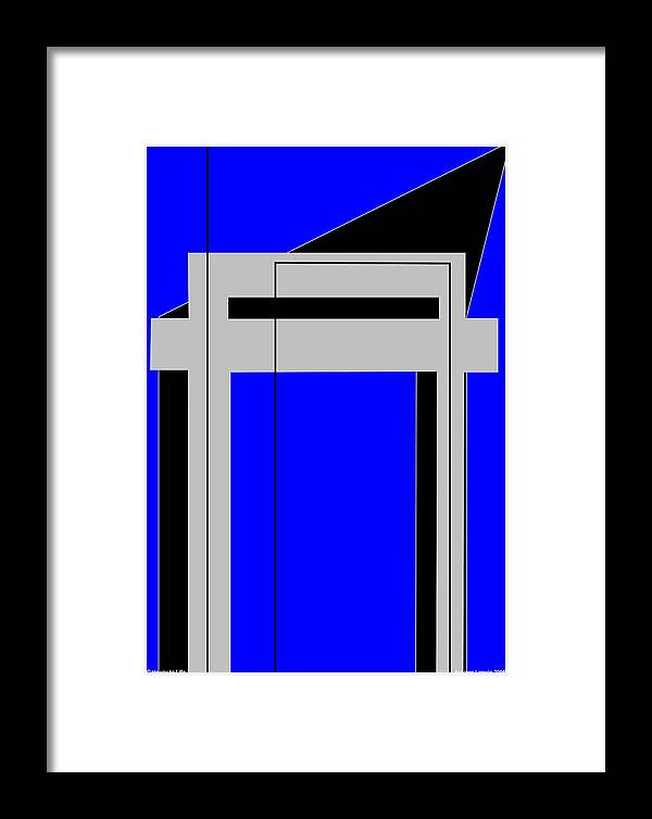 Gateway To Life Framed Print featuring the digital art Gateway To Life - Blue by Asbjorn Lonvig