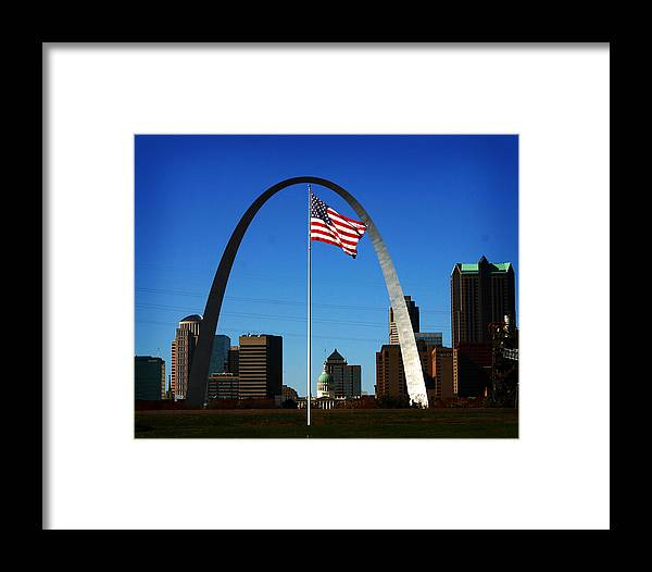 Arch Framed Print featuring the photograph Gateway To The West by Anthony Jones