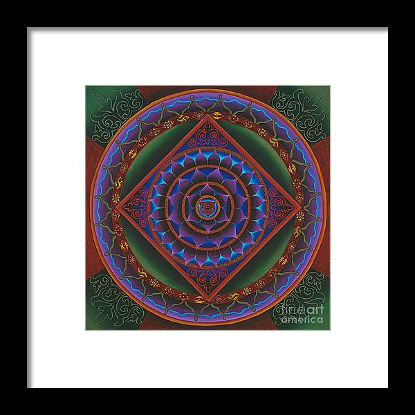 Mandala Framed Print featuring the painting Gather The Women by Charlotte Backman
