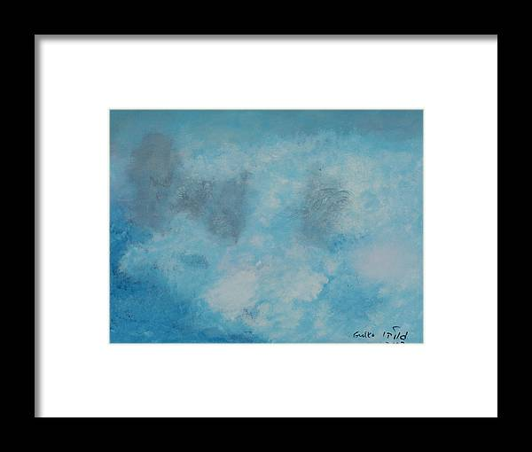 Clouds Framed Print featuring the painting Gathering Storm Clouds  by Harris Gulko