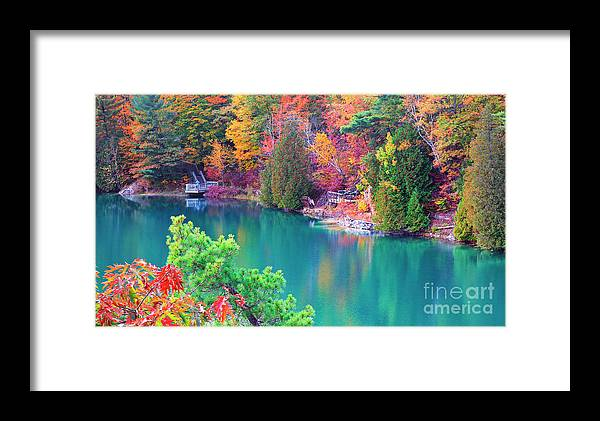 Gatineau Park Framed Print featuring the photograph Gatineau Park Tour by Charline Xia