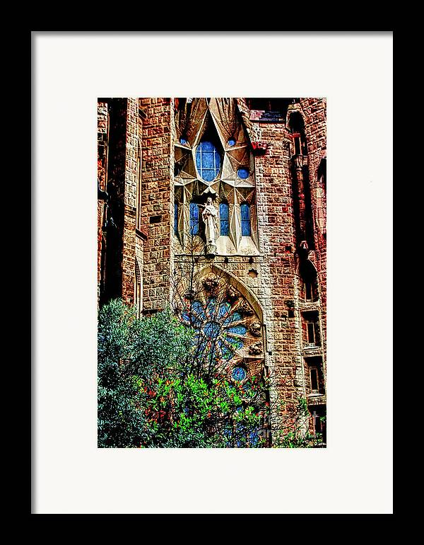 La Sagrada Famila Framed Print featuring the photograph Gaudi Barcelona by Tom Prendergast