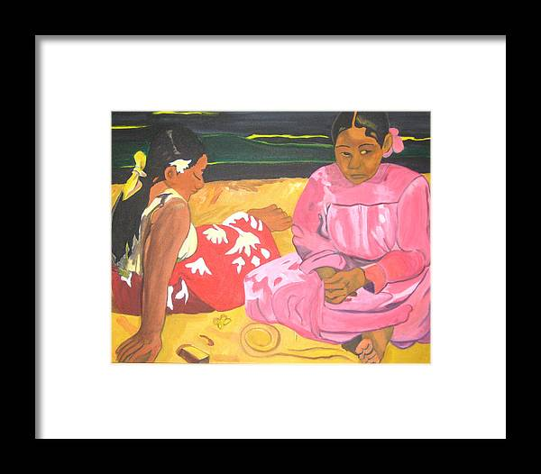 Gaugin Framed Print featuring the painting Gaugin by AVK Arts