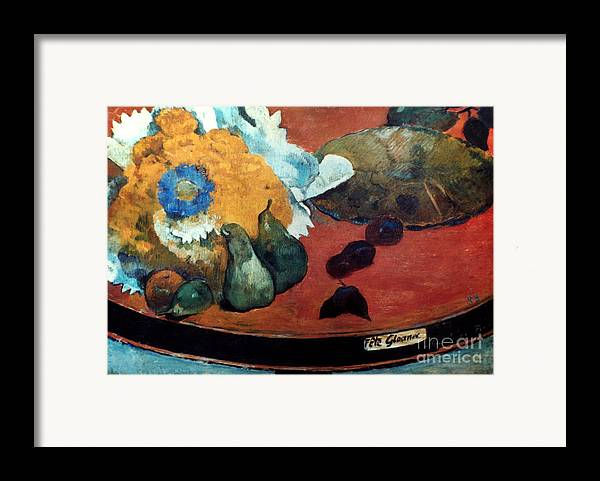 1888 Framed Print featuring the photograph Gauguin: Fete Gloanec, 1888 by Granger