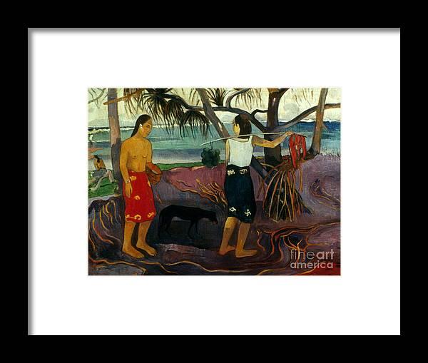 1891 Framed Print featuring the photograph Gauguin: Pandanus, 1891 by Granger