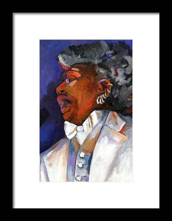 Portrait Framed Print featuring the painting Gaye Adegbalola by Jackie Merritt