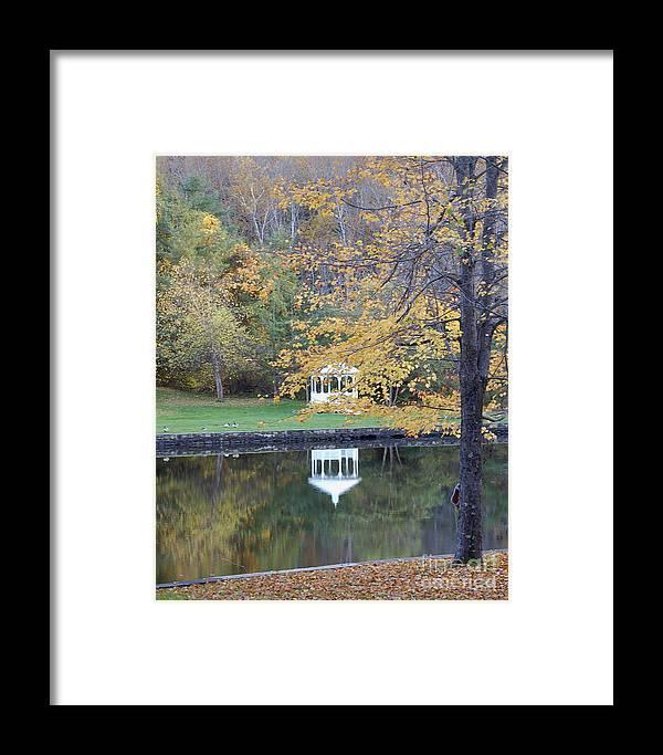 Gazebo Framed Print featuring the photograph Gazebo Reflection by Faith Harron Boudreau
