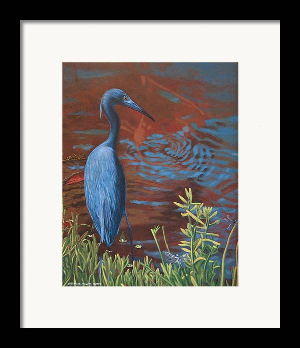 Painting Framed Print featuring the painting Gazing Intently by Peter Muzyka