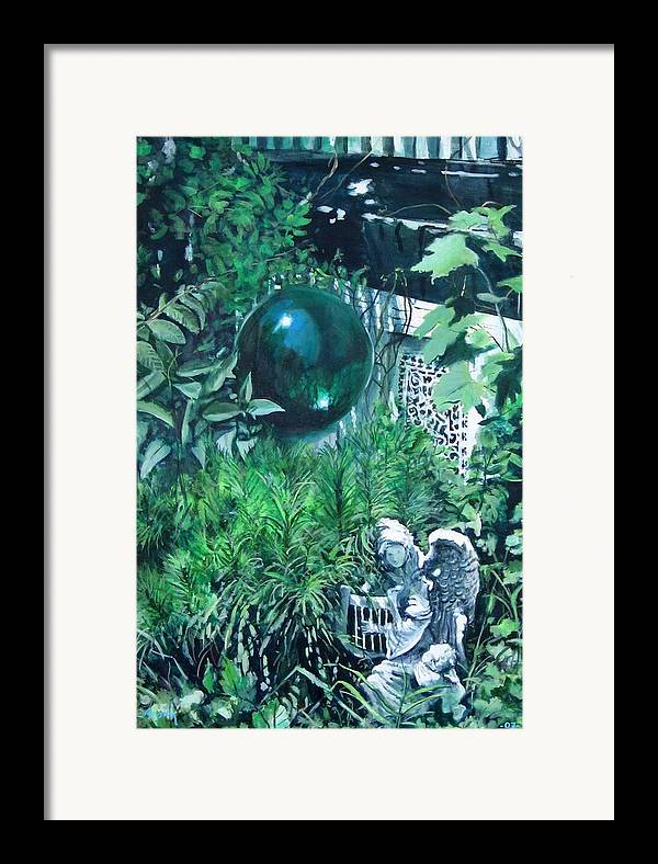 Realistic Framed Print featuring the painting Gazing by William Brody