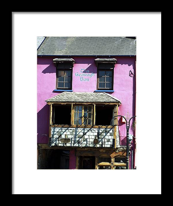 Irish Framed Print featuring the photograph Gearagh Pub in Macroom Ireland by Teresa Mucha