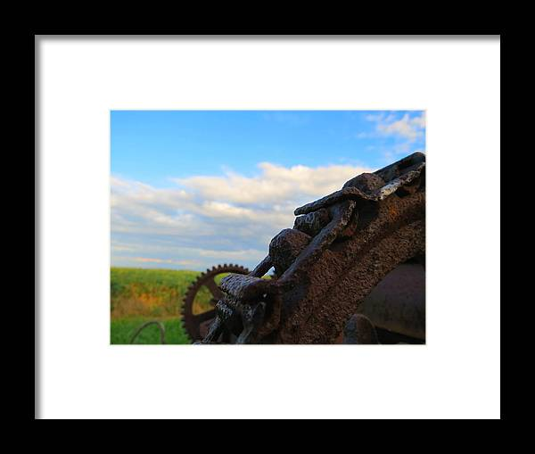 Farm Framed Print featuring the photograph Gears Of History by William Caine