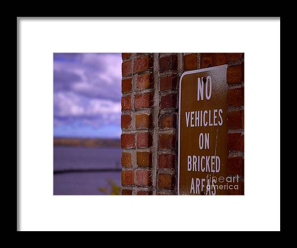 Sign Framed Print featuring the photograph Geee Ya Think by The Stone Age
