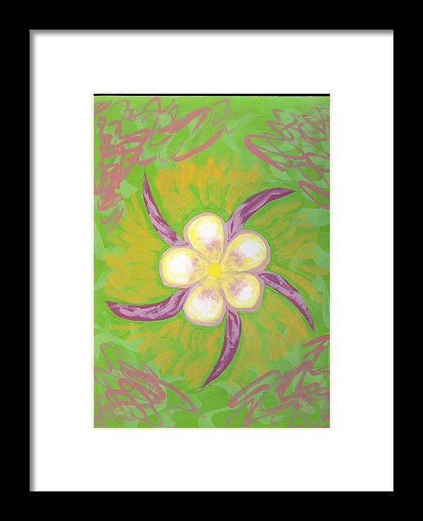 Flower Framed Print featuring the painting Geisha by Laura Lillo