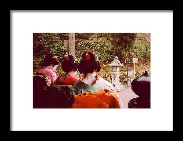 Geishas Framed Print featuring the photograph Geisha Necks by Andrea Simon