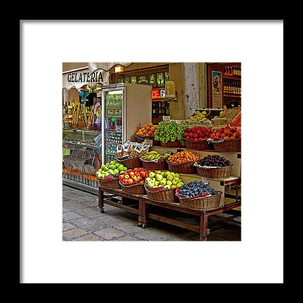 Venice Framed Print featuring the digital art Gelateria by John Scariano