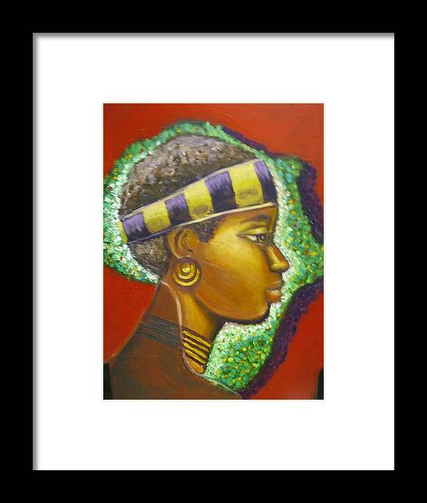 Gem Of Africa Framed Print featuring the painting Gem Of Africa by Jan Gilmore