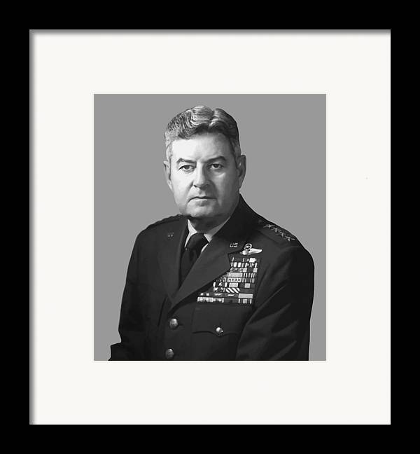 Curtis Lemay Framed Print featuring the painting General Curtis Lemay by War Is Hell Store
