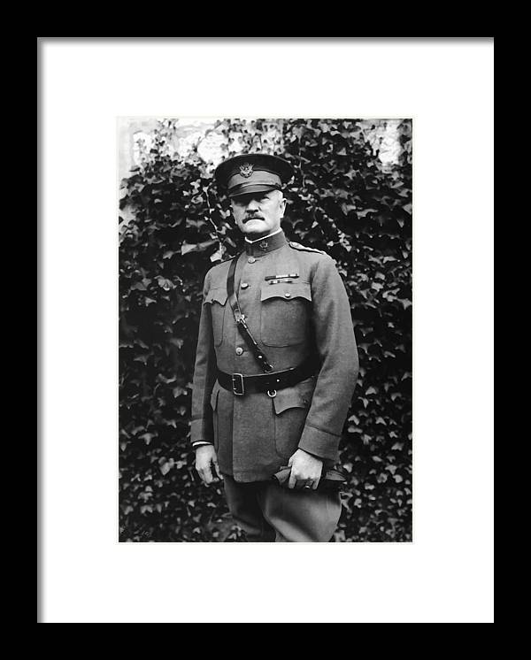 Ww1 Framed Print featuring the painting General John J. Pershing by War Is Hell Store