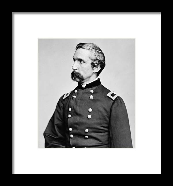 Joshua Lawrence Chamberlain Framed Print featuring the photograph General Joshua Chamberlain by War Is Hell Store