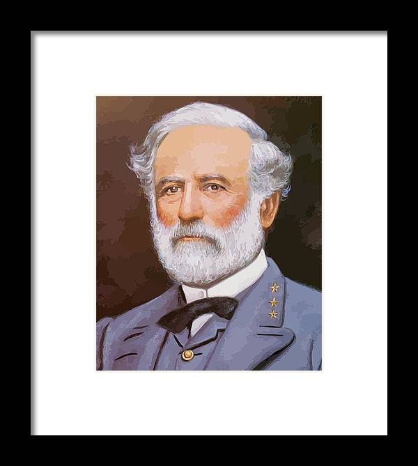 Robert E Lee Framed Print featuring the painting General Lee by War Is Hell Store