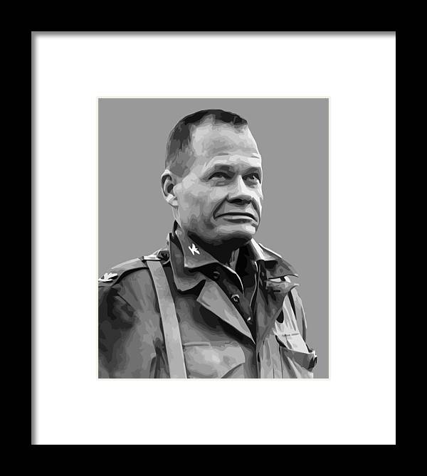 Chesty Puller Framed Print featuring the painting General Lewis Chesty Puller by War Is Hell Store