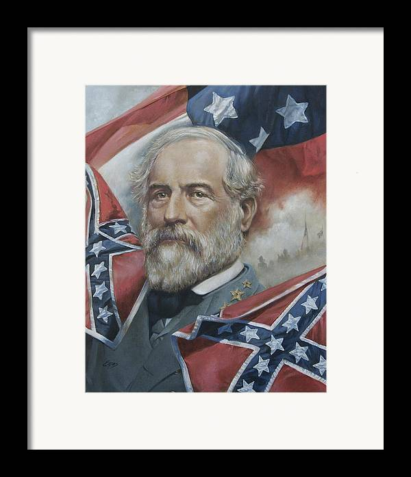 General robert e lee framed print by linda eades blackburn for Lee s painting