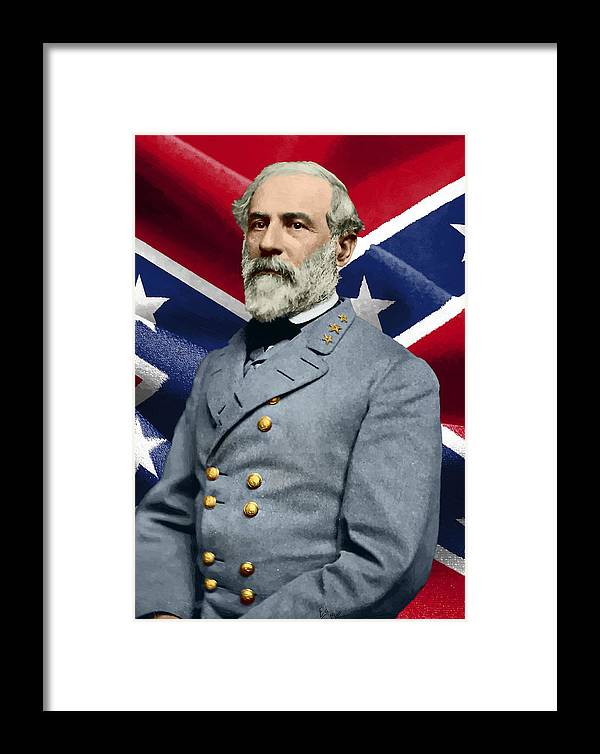 Framed Print featuring the painting General Robert E. Lee by William Mace