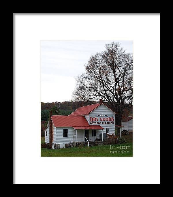 Landscape Framed Print featuring the photograph General Store by Eric Liller