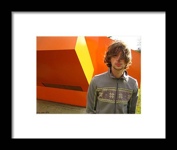 Orange Framed Print featuring the photograph Generation Why by Gerard Yates